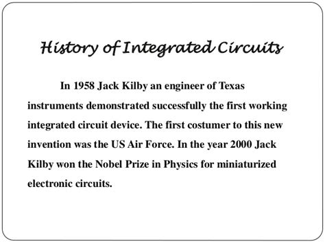 what year was integrated circuit invented integrated circuit year invented 28 images computer timeline timetoast timelines breathless