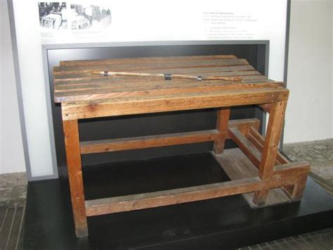 punishment bench the bench and stick of punishment picture of dachau