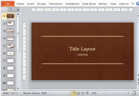 book cover powerpoint template classic book powerpoint template