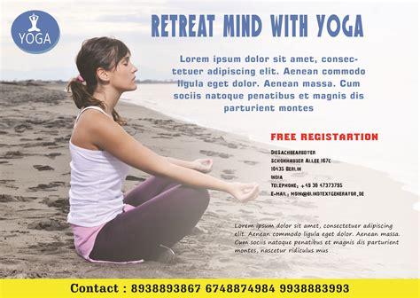 free templates for yoga flyers 20 distinctive yoga flyer templates free for professionals