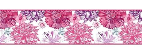 cenefa de flores cenefas de flores vinilosdecorativos