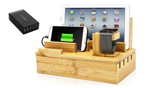 china universal multi cord organizer 5 device charging station powerbot bamboo multi charging station and charger groupon