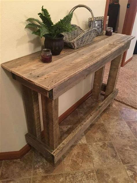 Pallet Console Table Diy Pallet Sofa Table Console Table 101 Pallets