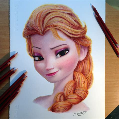 color pencil drawings elsa color pencil drawing by atomiccircus on deviantart