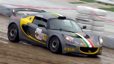 lotus exige gt 2 x lotus exige gt cup loud sound imola rally event 2013