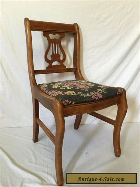 Vintage Chairs For Sale by Beautiful Antique Vintage Needlepoint Wood Harp Lyre Chair