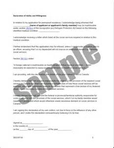 declaration document template health related forms documents and templates