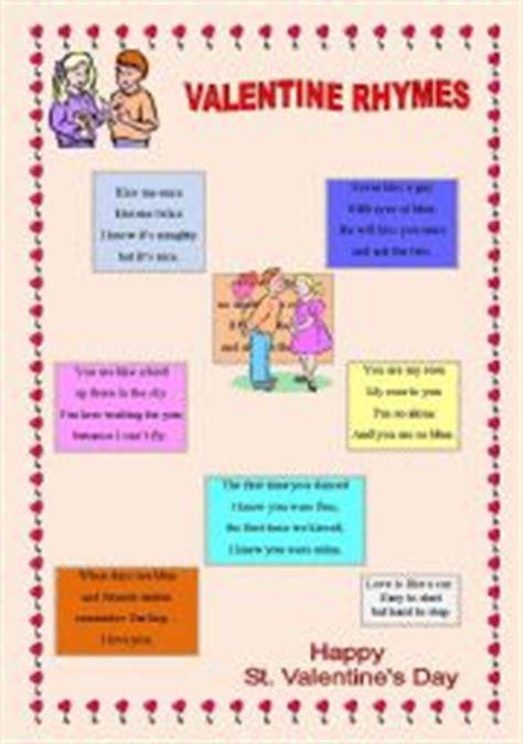 valentines rhymes teaching worksheets rhyming words