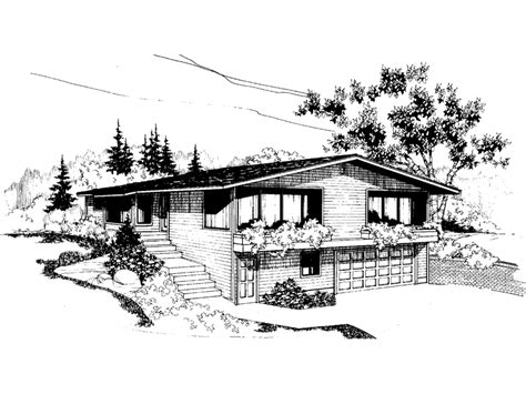 rossridge berm style home plan 085d 0570 house plans and