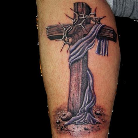 cross tattoos on calf the cross cross calf on tattoochief