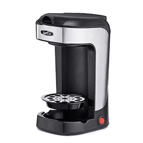 Bella BLA14436 One Scoop One Cup Coffee Maker, Black and Stainless Steel   EspressoHQ
