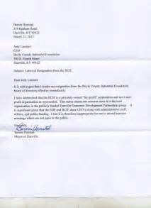 Groupon Ceo Resignation Letter by Danville Mayor Bernie Hunstad Issued A Letter Of Resignation Thursday Images Frompo