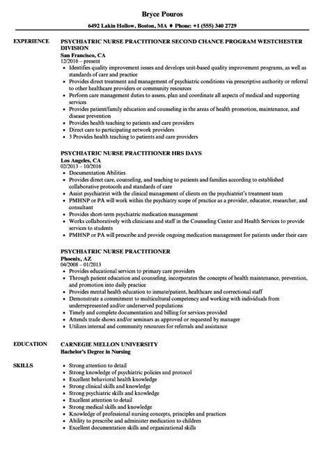Resume Psychiatric practitioner resume sles fiveoutsiders