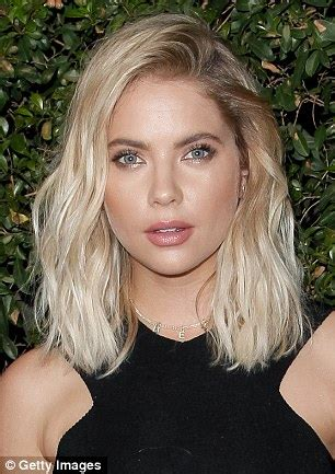 days of our lives short blonde hair ashley benson debuts her newly dyed bubblegum pink locks