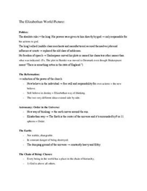 Lebenslauf Englisch Abitur Note The Elizabethan World Abitur Notizen In Englisch
