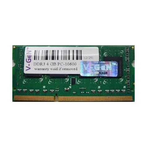 V Ddr3 4gb Pc For Notebook jual v memori ram notebook 4gb ddr3 pc 12800