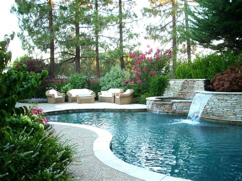 backyard design with pool landscape design ideas for backyard gardens in danville