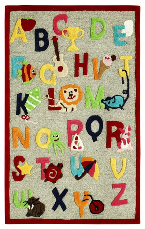Cradle Alphabet Beige Rug Contemporary Kids Rugs By Alphabet Rug