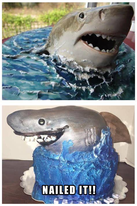 Nailed It Memes - shark cake nailed it meme hilarious pinterest shark cake