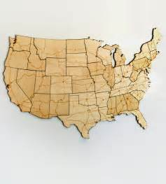 interstate highways magnetic wood usa puzzle