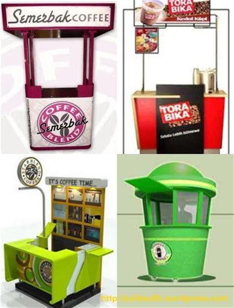 desain booth gerobak kedai kopi minimalis torabika