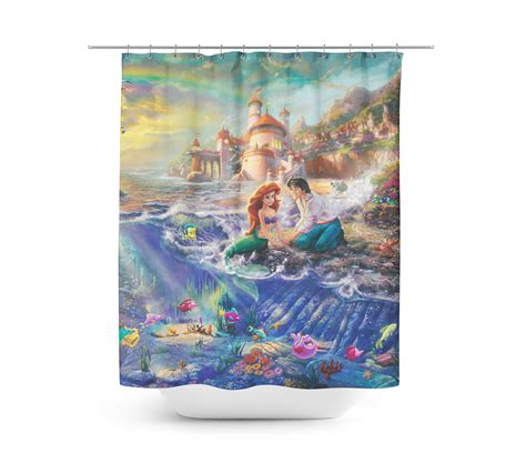 ariel shower curtain rainbowrules ariel shower curtain the disney fashionista