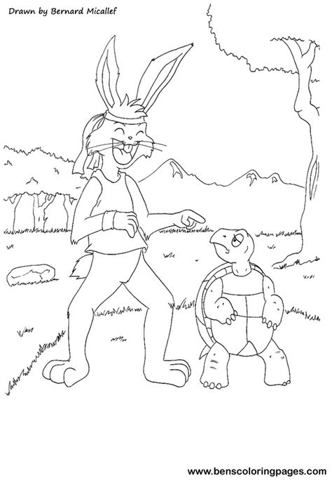 hare and the tortoise colouring pages the tortoise coloring pages