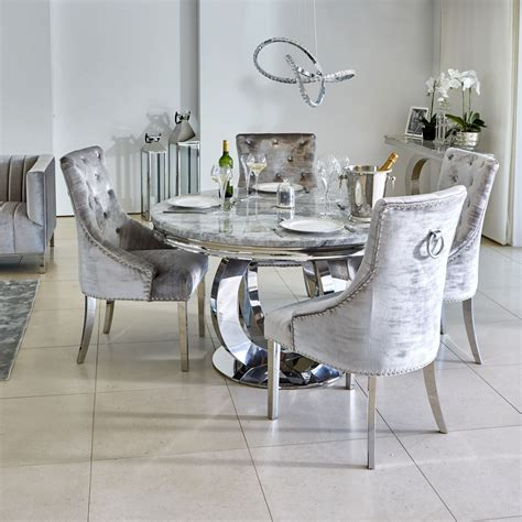oracle cm  grey marble dining table  parker