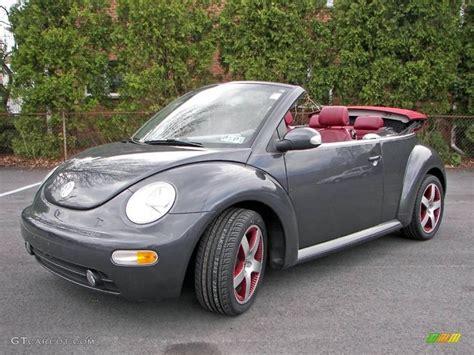 grey volkswagen bug dark grey car with burgundy interior 2005 volkswagen new