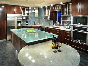 glass kitchen island 13 best images about glass countertops on