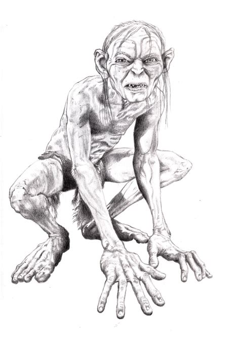 gollum coloring pages coloring pages