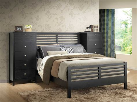 pier bedroom furniture coaster richmond pier bedroom set black 202721 pier bed