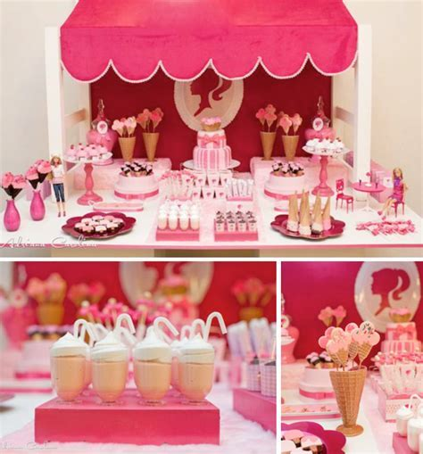 Barbie Doll Ice Cream Shop Pink Girl Glamorous Party Planning Ideas