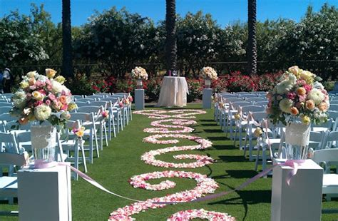 wedding aisle runner outdoor petal aisle runner for outdoor wedding ceremonies