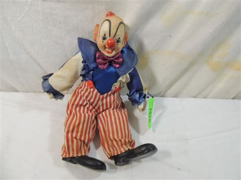 porcelain doll clown vintage porcelain clown doll