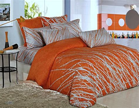rise shine orange and white comforter bedding sets