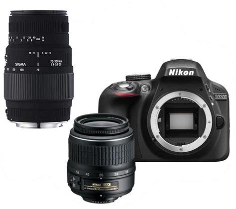 buy nikon d3300 dslr zoom lens telephoto zoom lens bundle free delivery currys
