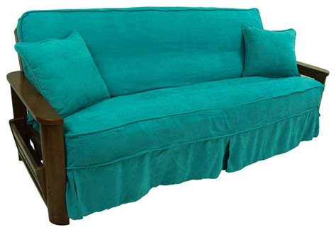Futon Chair Cover by Blazing Needles Solid Microsuede Futon Slipcover Set