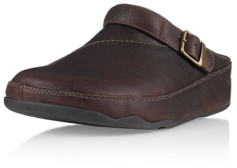 mens leather clogs fitflop s leather clog chocolate