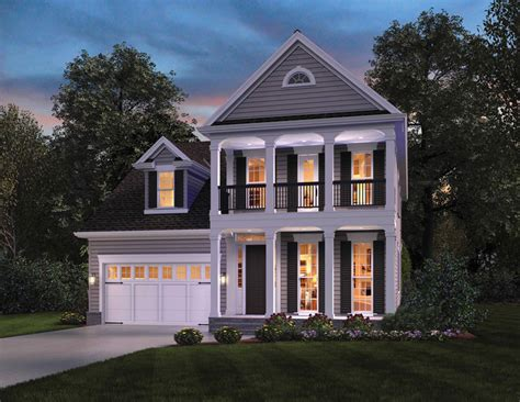 eplans colonial house plan two story great room 2256 ontario inspired narrow house plan the house designers