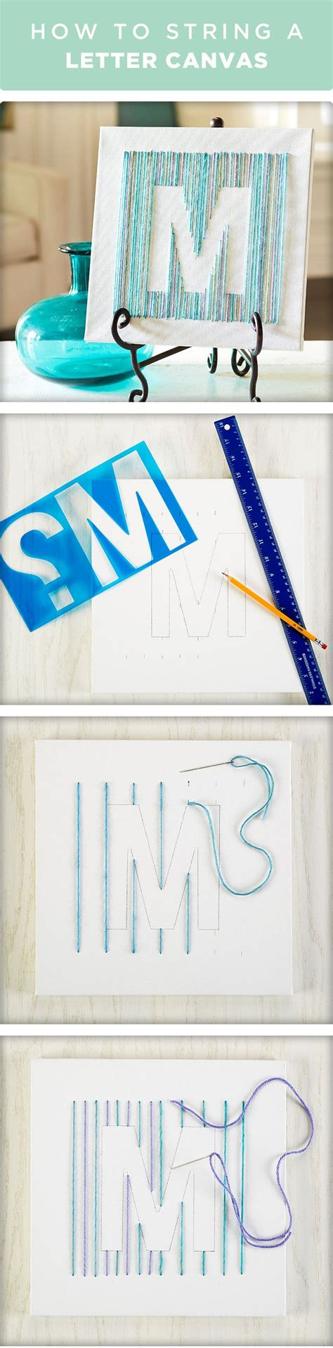 How To String Letters - free yarn class yarn letter canvas knutselen creatief