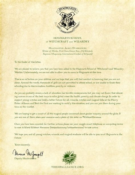 Acceptance Letter To Hogwarts School Of Witchcraft And Wizardry doc 14001968 hogwarts acceptance letter personalised