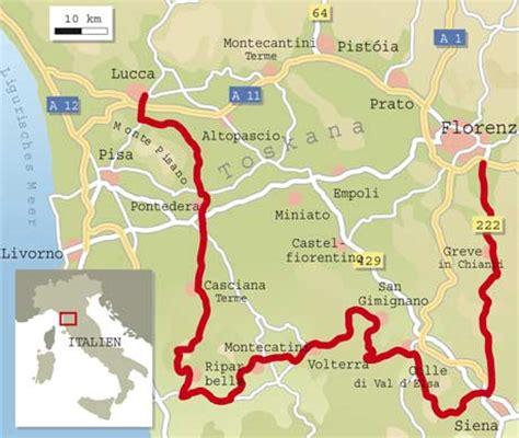 Motorrad Online Karte by Italien Spezial Toskana Info Karte Tourenfahrer Online
