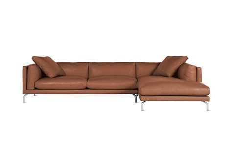 Como Sectional Chaise In Leather Right Design Within Reach