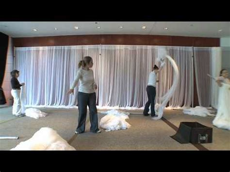 how to drape walls with fabric the retreat sheer fabric on a grand scale youtube