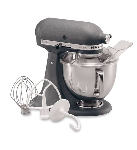 Kitchenaid Mixer Grey Artisan 174 Series 5 Quart Tilt Stand Mixer Ksm150psgr