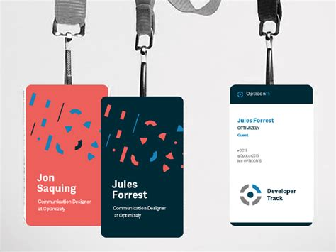conference id card template branding opticon badges event branding and conference badges