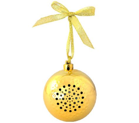 christmas tree jingle ball ornament bluetooth speaker