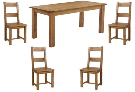 reclaimed dining table and chairs westbury reclaimed oak dining table 4 oak dining chairs