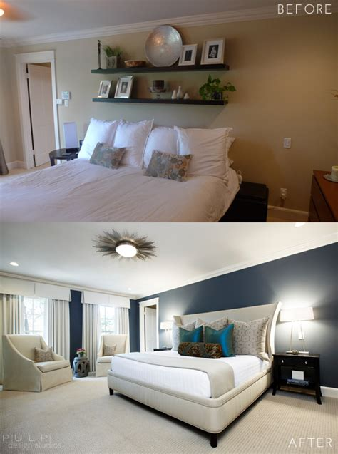 before and after bedrooms before after elegant mod master suite renovation pulp
